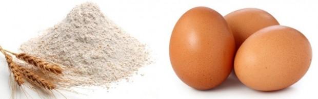 tepung gandum n telur